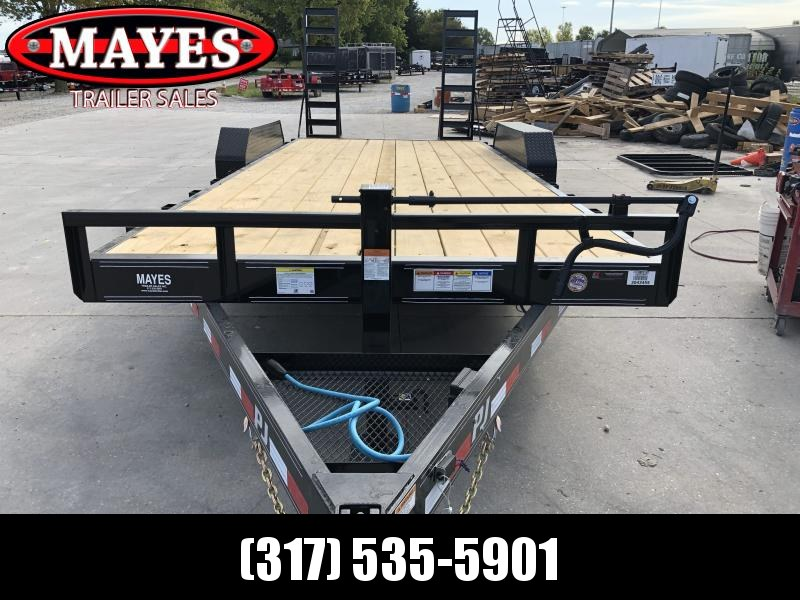 2020 83x20 (18+2) TA PJ Trailers CC202 Equipment Trailer - 6 Inch Channel - Fold Up Ramps - Dovetail (GVW:  14000)