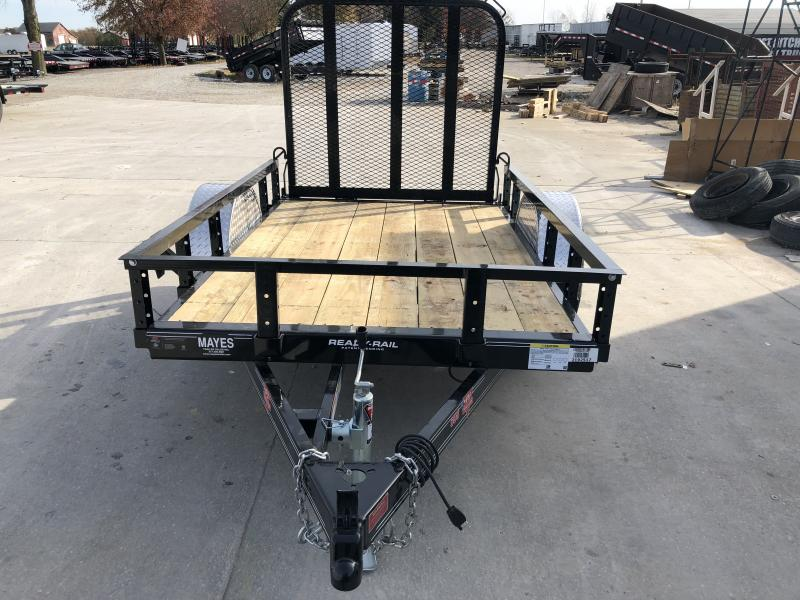 2020 60 Inch x 8 Foot PJ Trailers U6081 Utility Trailer - Straight Deck - Fold In Gate - Spare Tire MOUNT ONLY (GVW:  2995)