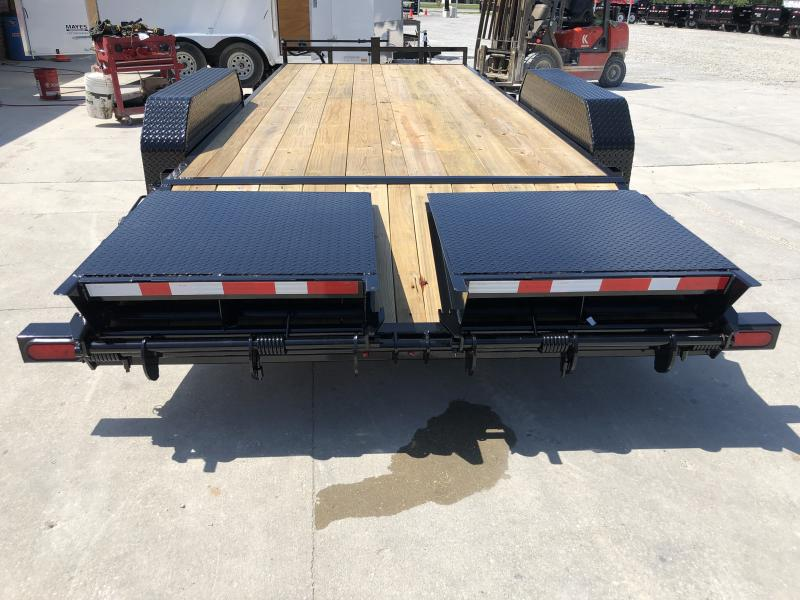 2020 83x20 Foot (16.5+3.5) TA PJ Trailers CC202 Equipment Trailer - Monster Ramps (GVW:  14000)
