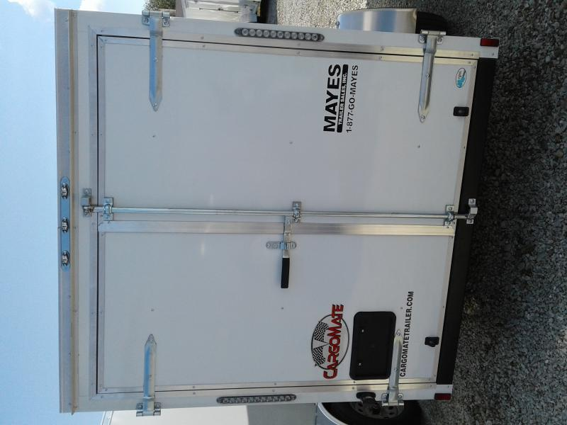 "2021 6x12 Cargo Mate SS612SA Enclosed Cargo Trailer - White (DD)(6"" Extra Height)"