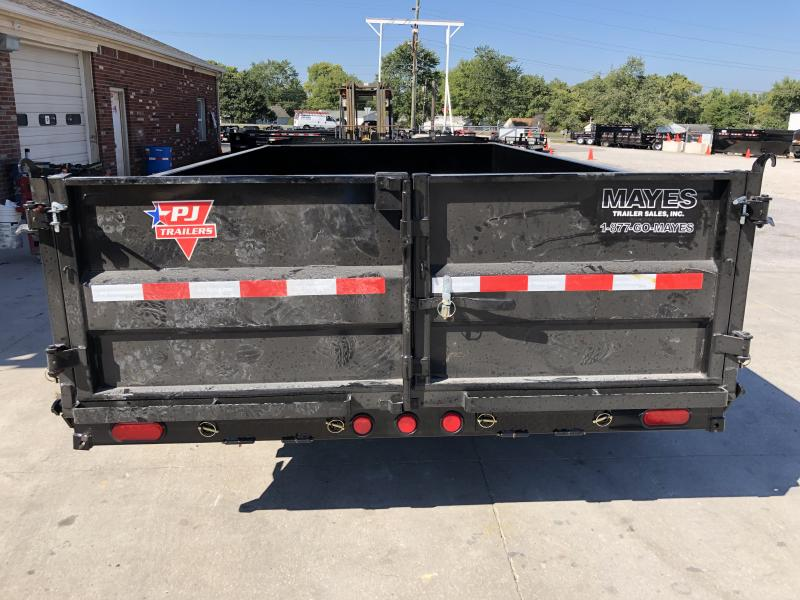 2020 83x14 PJ Trailers Low Pro Dump (DL) Dump Trailer - Tarp Kit - (GVW: 14000)