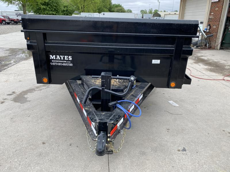 2020 83x14 Load Trail DT14 Dump Trailer - (Black Powdercoat)(Split/Spreader Gate)(Tarp Kit)(Ramps)(Max Step)(GVW: 14000)