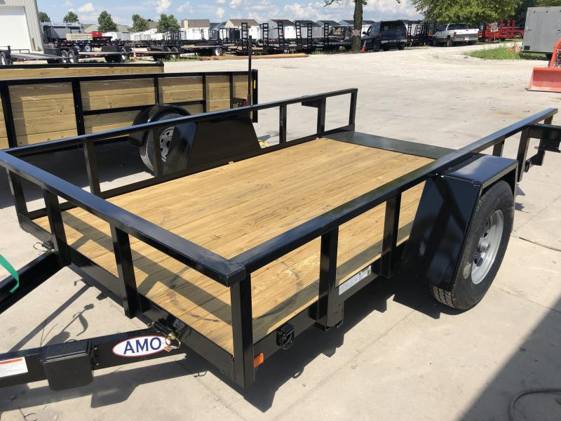 2020 76x12 SA Tilt American Manufacturing Operations (AMO) UF121 Utility Trailer - Brake on Drop Axle - D-Rings (GVW:  7000)