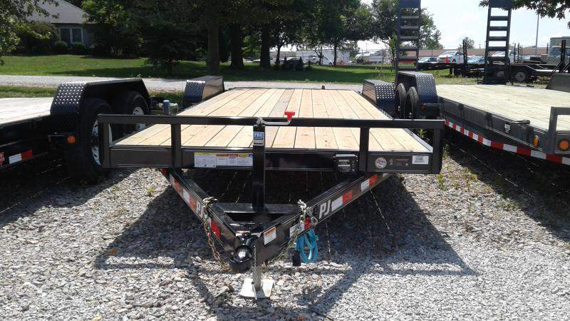 2020 83x22 (20+2) TA PJ Trailers CE222 Equipment Trailer - Rear Slide In Ramps (GVW:  9899)
