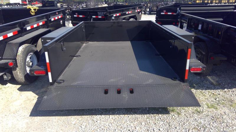 2020 B-B 76x10 TA Drop Down HDT1070E Equipment Trailer - Steel Floor - Power Up/Gravity Down (GVW:  7000)