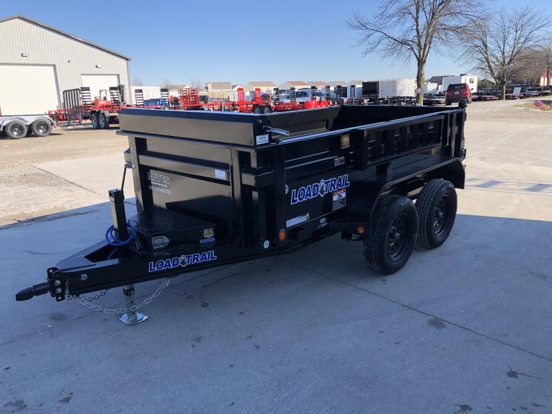 2020 60x10 TA Load Trail DT6010032 Dump Trailer  - 24 Inch Dump Sides - 3-Way Gate - Side Mount Ramps - Scissor Hoist - Spare Tire MOUNT ONLY (GVW:  7000)