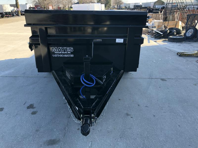 2020 60x10 TA Load Trail DT6010032 Dump Trailer  - 24 Inch Dump Sides - 3-Way Gate - Side Mount Ramps - Scissor Hoist - Spare Tire MOUNT ONLY (GVW:  7000)