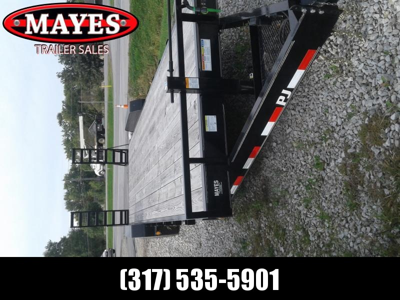 "2019 83x26(24+2' Dovetail) PJ Trailers C8 8"" Channel Equipment Trailer - w/ 5' Fold-up Ramps (GVW: 14000)"