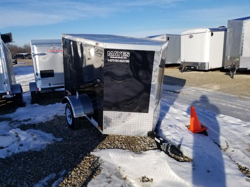 2020 4x6 SA Cargo Mate EHW46SA Enclosed Cargo Trailer - Single Rear Door - .030 Metal Upgrade (GVW:  2000)