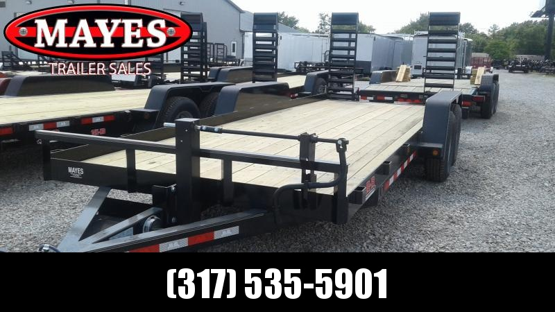 2020 83x20 Angle Iron B-B BCT2014E Equipment Trailer - 5 Foot Flip Up Ramps (GVW:  14000)
