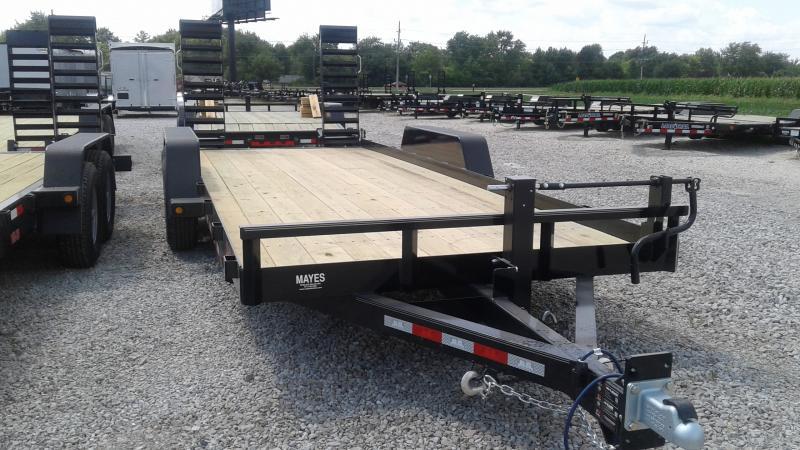 2020 83x20 Angle Iron B-B BCT2014E Equipment Trailer - 5 Foot Flip Up Ramps (GVW:  14000)