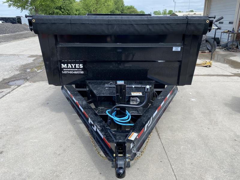 2020 83x14 PJ Trailers 83 Low Pro High Side Dump (DM) Dump Trailer - (3ft Sides)(Tarp Kit)(GVW: 14000)