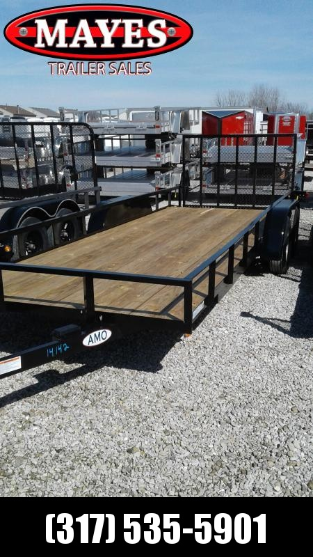 2019 76x20 (18+2) American Manufacturing Operations (AMO) UT202 Utility Trailer - 4' Tailgate (GVW:  7000)