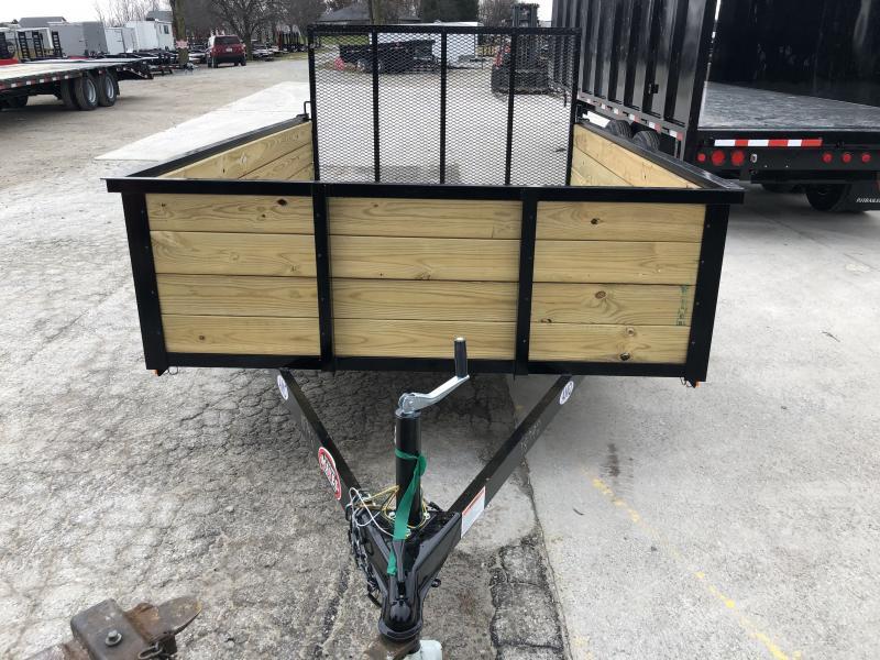 2020 76X10 SA AMO US101 Utility Trailer - High Side - Treated Wood Floor - Tailgate (GVW:  2990)