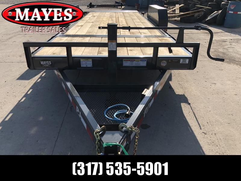 2020 83x20 (4+16) TA PJ Trailers T6202 Equipment Trailer - Tilt Trailer (GVW:  14000)