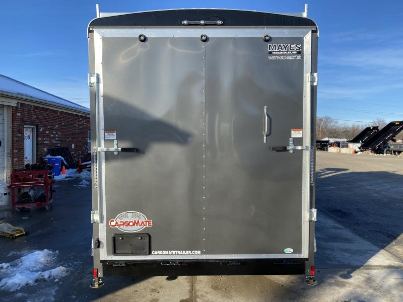 2020 7x12 TA Cargo Mate BL712TA3 Enclosed Cargo Trailer - Ramp Door - Ladder Racks - 12 Inch Additional Height - HD Cage Pkg. (GVW:  9800)