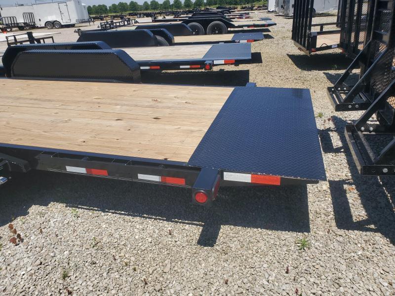 2020 74x22 (6+16) T6222 Tilt PJ Trailers - Torsion Axles - 16 Foot 74 Inch Wide Tiltable Deck (GVW:  14000)
