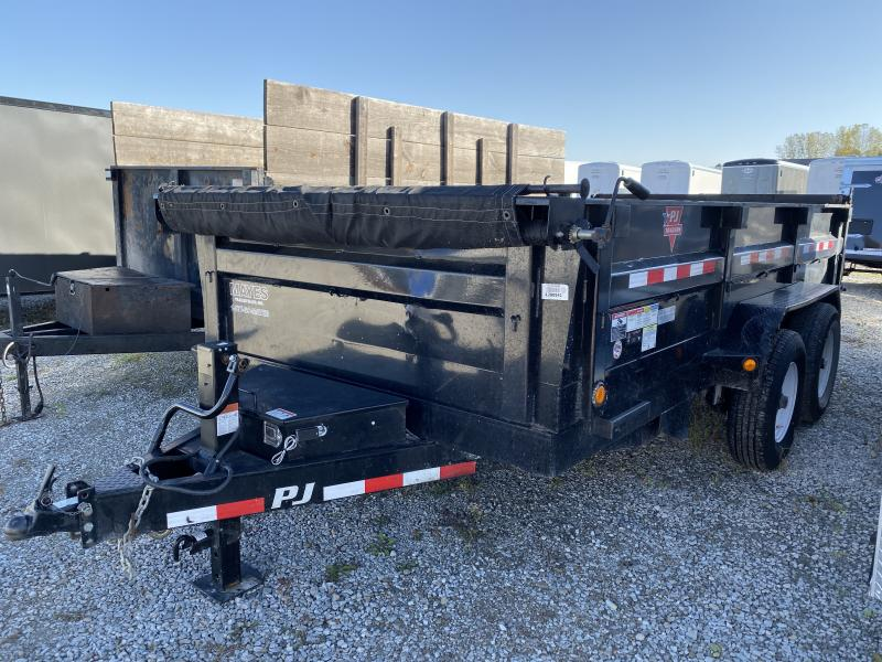 Used 2018 83x14 PJ Trailers D7 USED Dump Trailer - Tarp Kit (GVW: 14000)