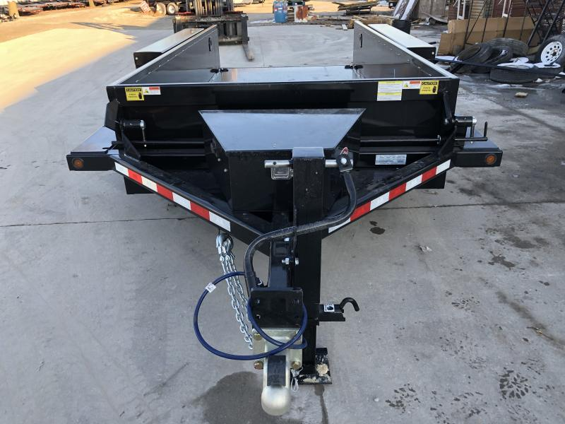 2020 76x14 (12.5x1.5) B-B HDT1414E Drop Down Equipment Trailer - 2 Foot Metal Sides - Diamond Plate Floor - Tool Box (GVW:  14000)