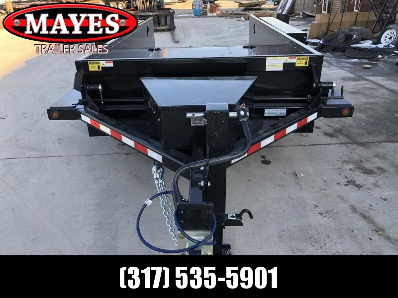 2020 76x15 (14 + 1.5) B-B HDT1414E Drop Down Equipment Trailer - 2 Foot Metal Sides - Diamond Plate Floor - Tool Box (GVW:  14000)