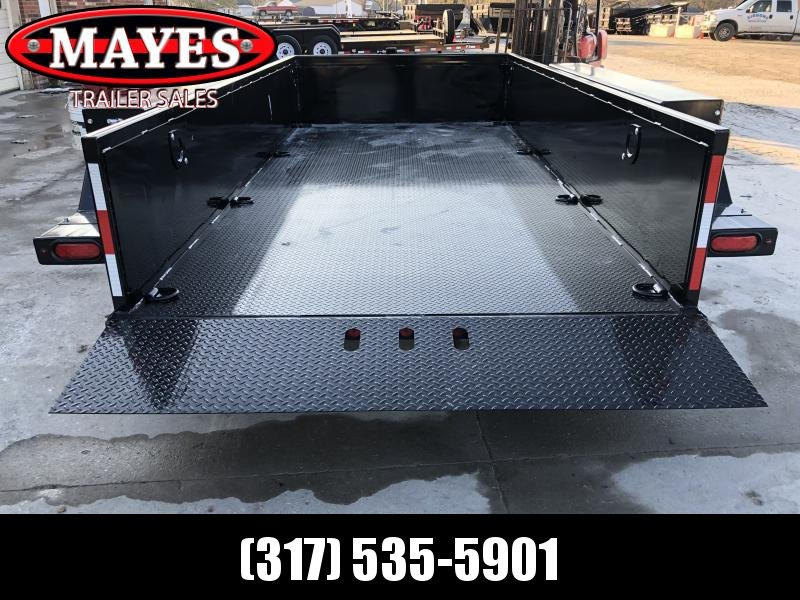 2020 76x15 (14 + 1.5) B-B HDT1414E Drop Down Equipment Trailer - 2 Foot Metal Sides - Diamond Plate Floor - Tool Box (GVW:  14000)