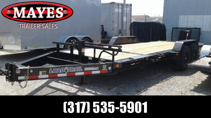 2019 83x20 (4+16) Tilt-N-Go Load Trail TH8320072 Equipment Trailer - D-Rings - Tool Tray (GVW:  14000)
