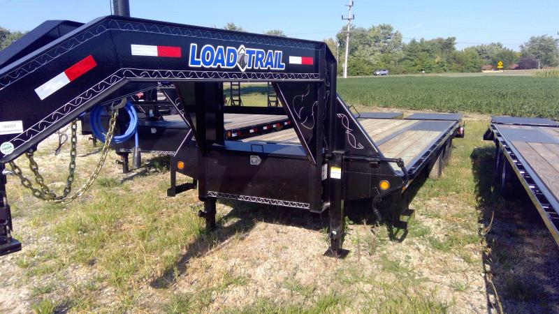 2019 102x25 (20+5) Load Trail GP0225102 Equipment Trailer - Self Clean Dovetail - Max Ramps - Tool Box (GVW:  22000)