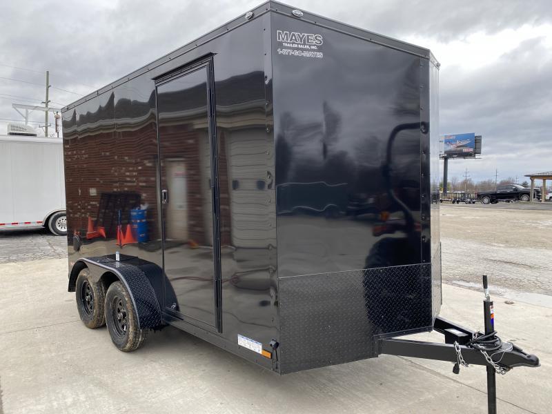 2020 7x14 TA Cargo Mate EHW714TA2 Enclosed Cargo Trailer - Side by Side Pkg. - 12 Inch Additional Height - Ramp Door - Freezer Locks (GVW:  7000)