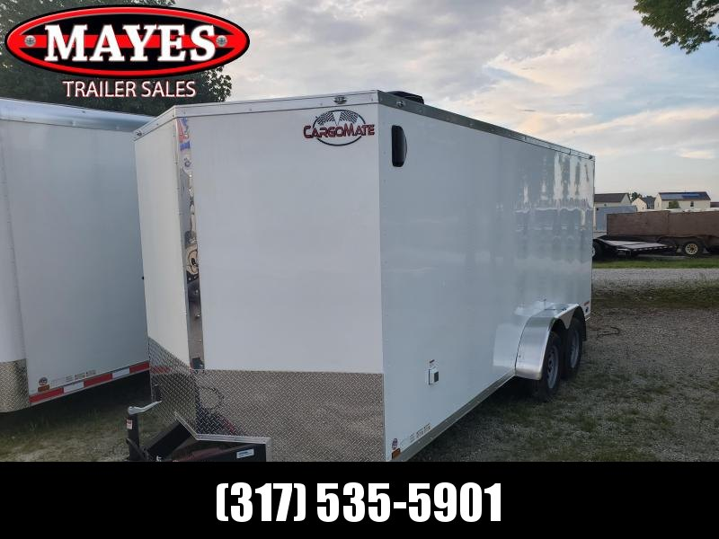 2021 7x18 Cargo Mate EHW718TA2 Enclosed Cargo Trailer - White (RD)(GVW: 7000)(6in Extra Height)