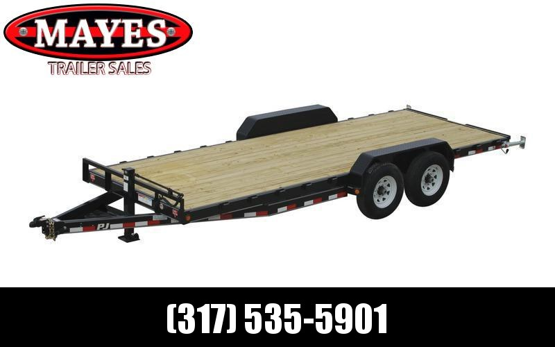 2020 83x20(16.5+3.5) PJ Trailers CC Equipment Trailer - w/ (2) Monster Ramps (GVW: 14000)