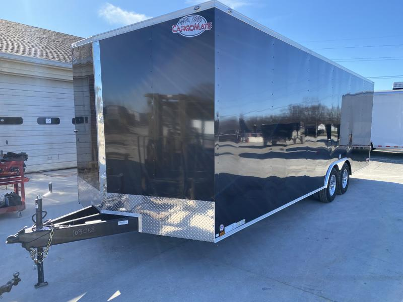 2020 8.5x24 TA Cargo Mate EHW8.524TA3 Enclosed Cargo Trailer - .030 Metal Upgrade - Ramp Door - D-Rings - Aluminum Wheels (GVW:  9800)