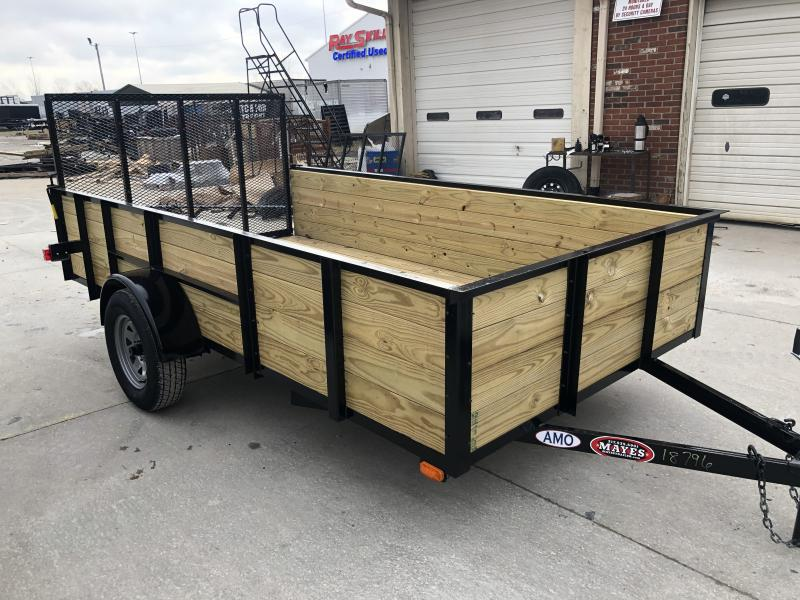 2020 76x12 SA AMO US121 Utility Trailer - High Side - Treated Wood Floor - Tailgate (GVW:  2990)