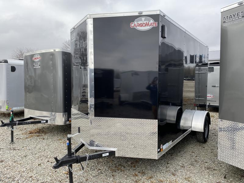 2020 6x12 SA Cargo Mate EHW612SA Enclosed Cargo Trailer - .030 Metal Upgrade - 6.5 Wide Body - Side by Side Package - D-Rings - 12 Inch Additional Height (GVW:  2990)