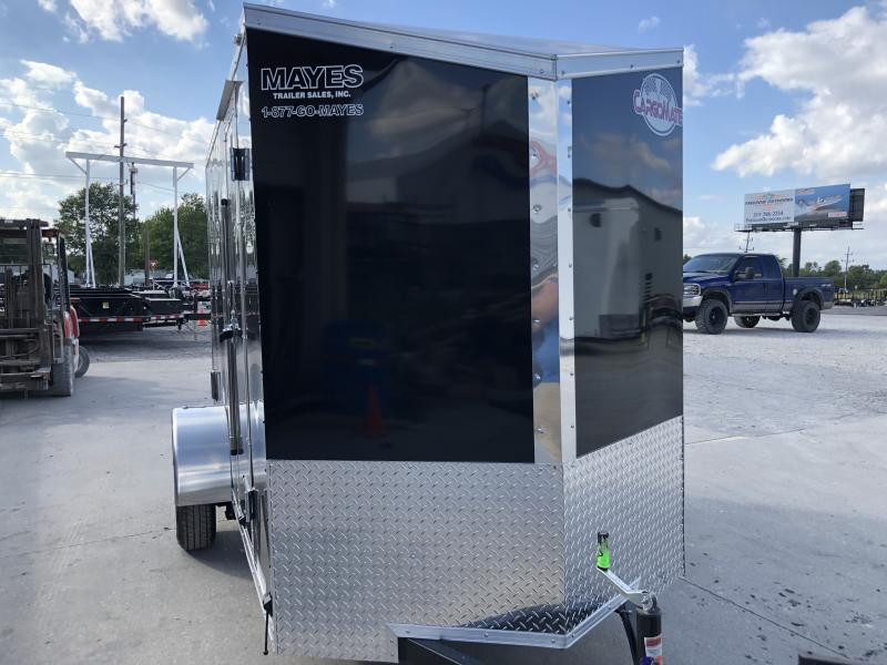 2020 5x10 SA Cargo Mate Enclosed Cargo Trailer - Ramp Door - Side by Side Package - 12 Inch Additional Height - Slant V-Nose (GVW:  2990)