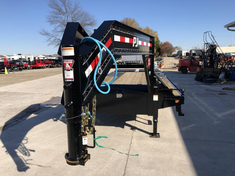 2020 102x25 (25+5) TA PJ Trailers LD252 Equipment Trailer - Low Pro with Duals - Dovetail - Flip Over Monster Ramps (GVW:  25000)