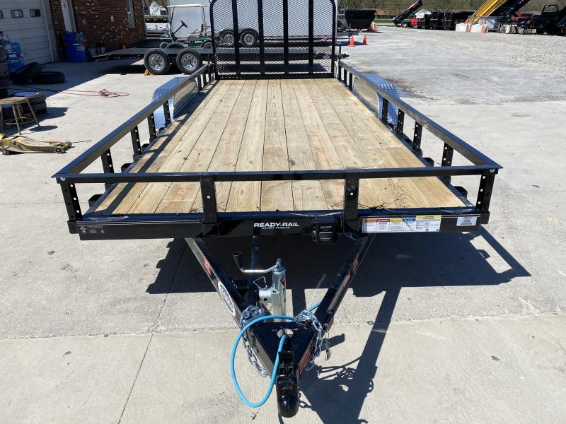 "2020 83x18 TA PJ Trailers 18' x 83"" Tndm Axle Channel Utility Trailer - Straight Deck - Fold In Gate (GVW:  7000)"
