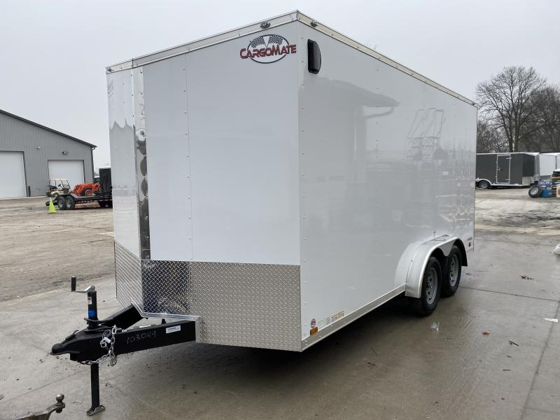 2020 7.5x16 TA Cargo Mate EHW716TA2 Enclosed Cargo Trailer - Side by Side Package - 12 Inch Additional Height - Ramp Door (GVW:  7000)
