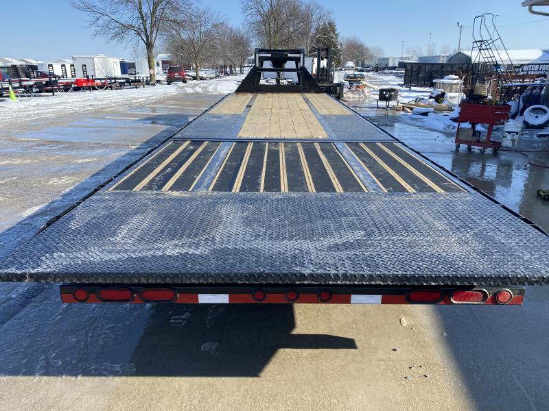 2020 102x32 (22+10) TA Gooseneck Load Trail GL0232102 Equipment Trailer - 10 Foot Hydraulic Dovetail - Tool Box - Max Steps - Winch Plate (GVW:  24000)