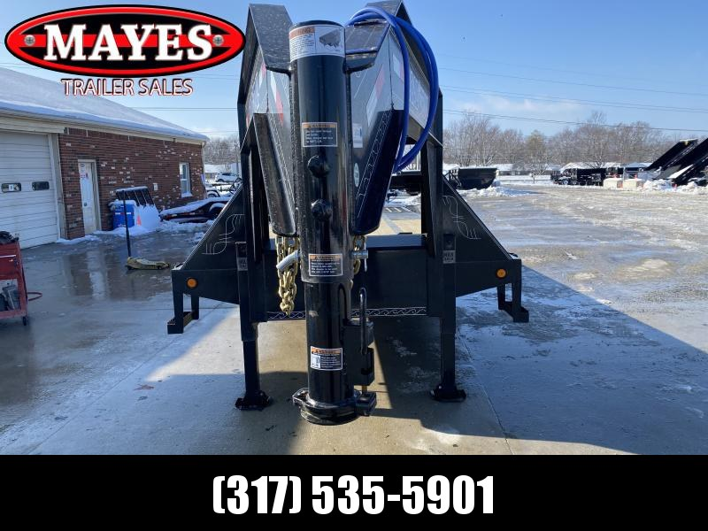 2020 102x32 (22+10) TA Gooseneck Load Trail GL0232102 Equipment Trailer - 10 Foot Hydraulic Dovetail - Tool Box - Max Steps - Winch Plate (GVW:  24000)