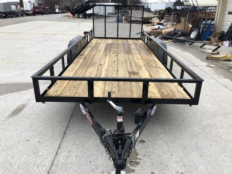 2020 76x18 TA AMO UT182 Utility Trailer - Straight Deck - Treated Wood Floor - Tailgate (GVW:  7000)