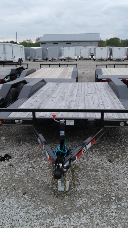 "2019 96x16(14+2' Dovetail) PJ Trailers B5 5"" Channel Buggy Hauler Trailer - w/ 5' Slide-in Ramps (GVW: 9899)"