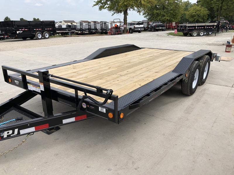 2020 102x18 Foot (16+2) TA  PJ Trailers B6182 Equipment Trailer - Dovetail - 6