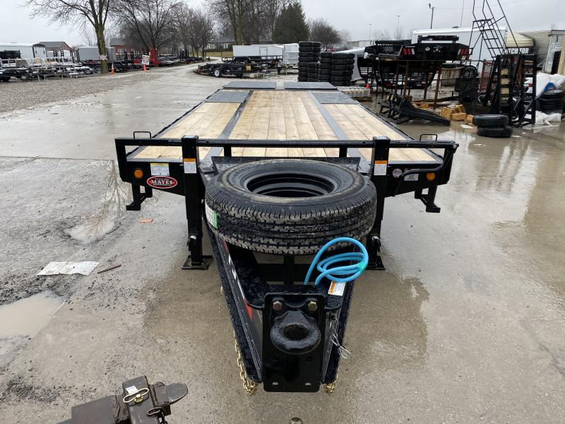 2020 102x25 (20+5) TA PJ Trailers PL252 25' Low-Pro Pintle with Duals Trailer - Dovetail - Flip Over Monster Ramps - Pintle Eye (GVW:  25000)