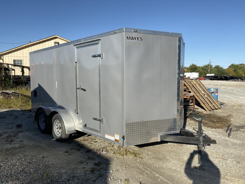 2018 7x14 Cargo Mate EHW714TA2 Enclosed Cargo Trailer - Diamond Ice (RD)(GVW: 7000) *USED*