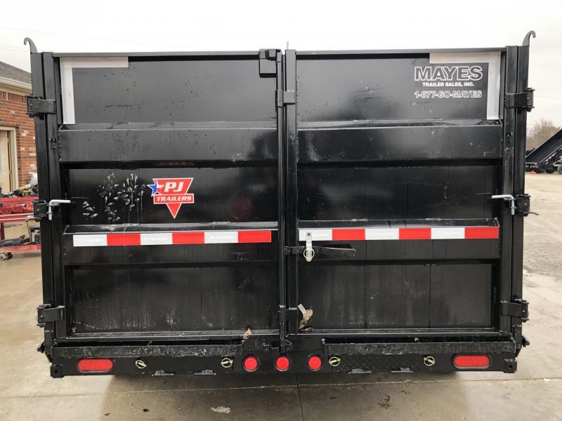 2020 83x14 TA Low Pro PJ Trailers DM142 Dump Trailer - Split/Spread Gate - Tarp Kit - Spare Tire MOUNT ONLY (GVW:  14000)