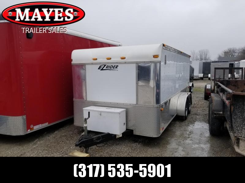 Used 2004 7x16 TA Homesteader Z16 Enclosed Cargo Trailer - Low Pro Motorcycle Trailer - Ramp Door (GVW:  7000)