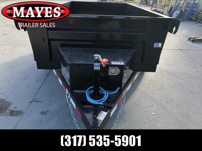 2020 60 Inch x 10 Feet TA Utility PJ Trailers D5102 Dump Trailer - Split Gate - Tarp Kit - Spare Tire MOUNT ONLY (GVW:  7000)
