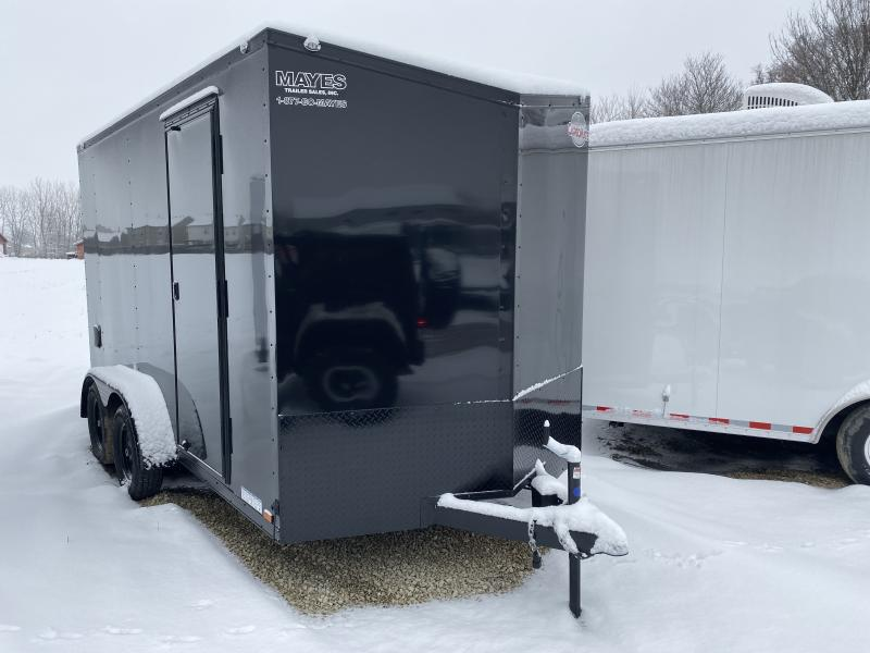 2020 7x14 TA Cargo Mate EHW714TA2 Enclosed Cargo Trailer - RD - RV Side Door - Black Out Pkg. - Side by Side Pkg. - 12 Inch Additional Height (GVW:  7000)