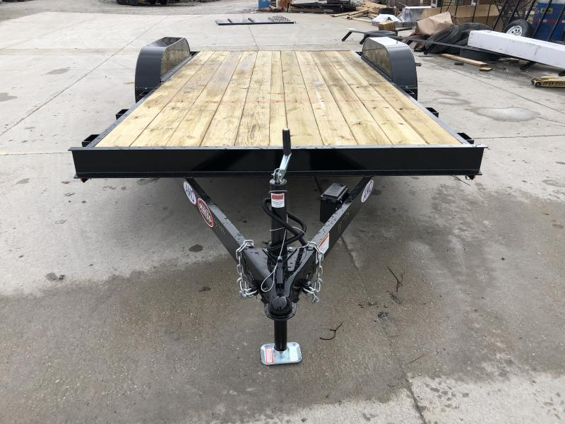 2020 82x16 (14+2) TA AMO UT162 Flatbed Trailer - Treated Wood Floor - Wrapped Tongue - Dovetail (GVW:  7000)
