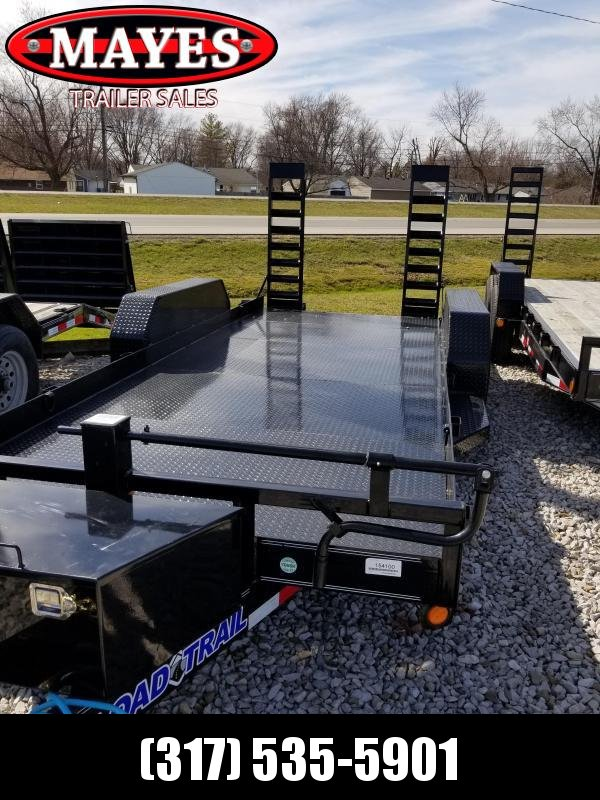2018 80x18 Load Trail BC182 Equipment Trailer - w/ 5' Fold-up Ramps (GVW: 9990) *Steel Floor*